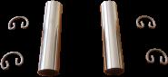 2 Kolbenbolzen mit Sicherungen DKW F5, F7, F8, IFA F8, P70
