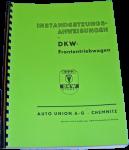 Betriebsanleitung DKW Frontantriebwagen 600 und 700 ccm