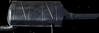Nachschalldämpfer Auspuff DKW F93, F94, Auto-Union AU1000/S