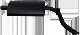 Nachschalldämpfer Schnellaster DKW Auto-Union  3 Zylinder