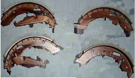 Bremsbackensatz Auto-Union DKW F93, AU1000/S/SP vorne oder hinten